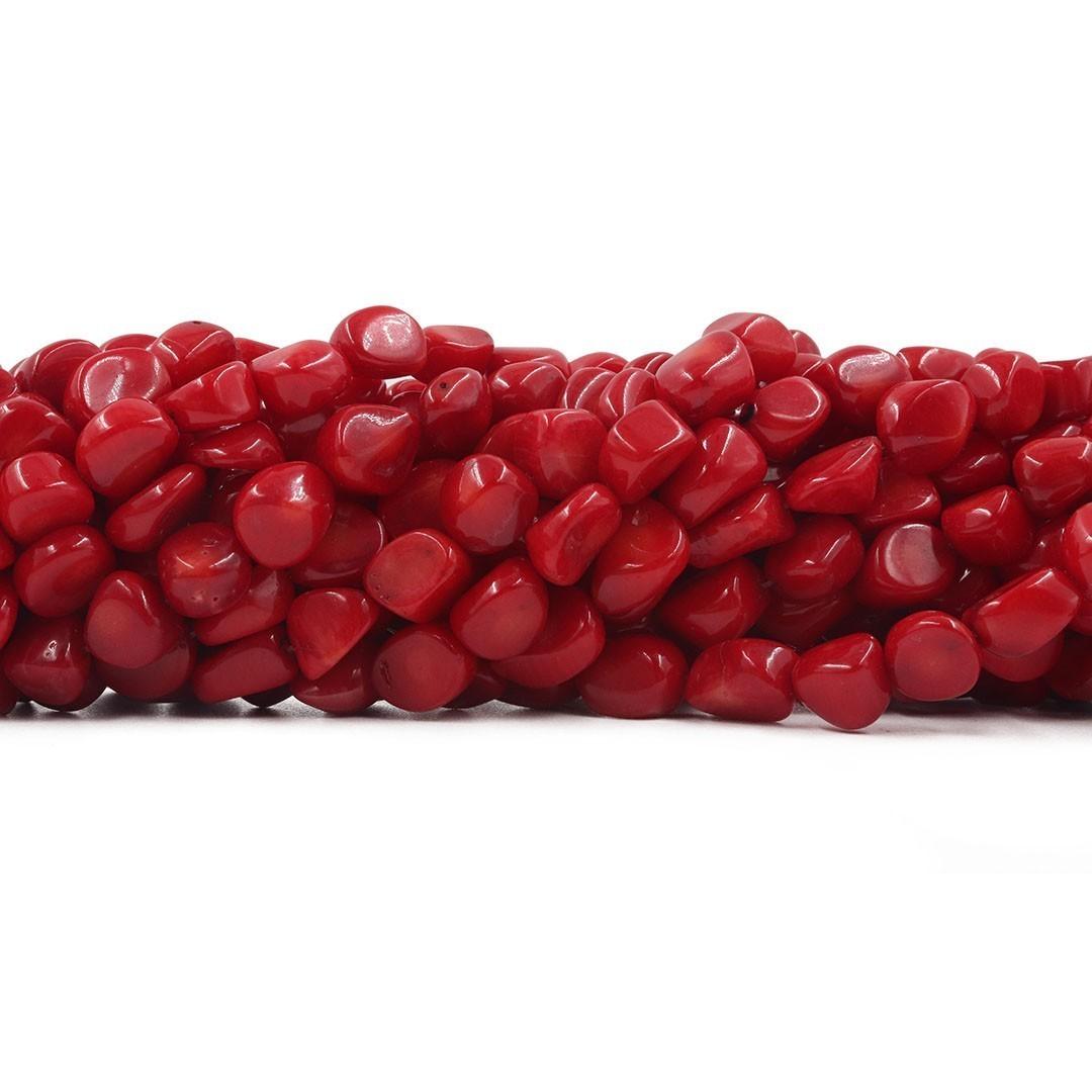 Coral Semente Vermelho Natural 8 á 10mm - CO032  - ArtStones
