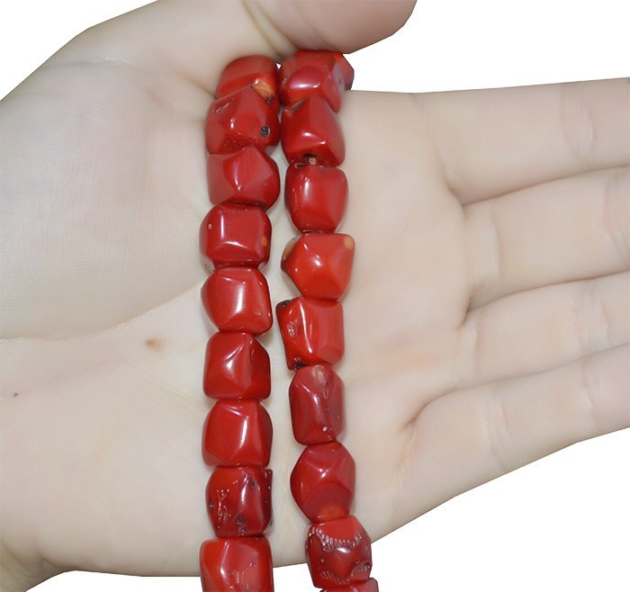Fio de Coral Vermelho Toco 9 a 12mm Natural - FCO_210  - ArtStones