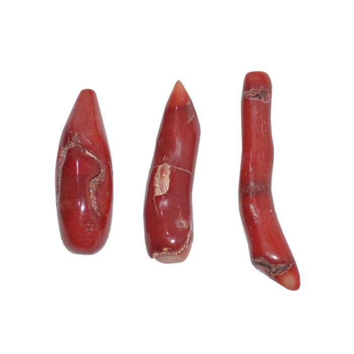 Coral Vermelho Pimenta de 40 a 55mm - 1 Peça - CO006  - ArtStones