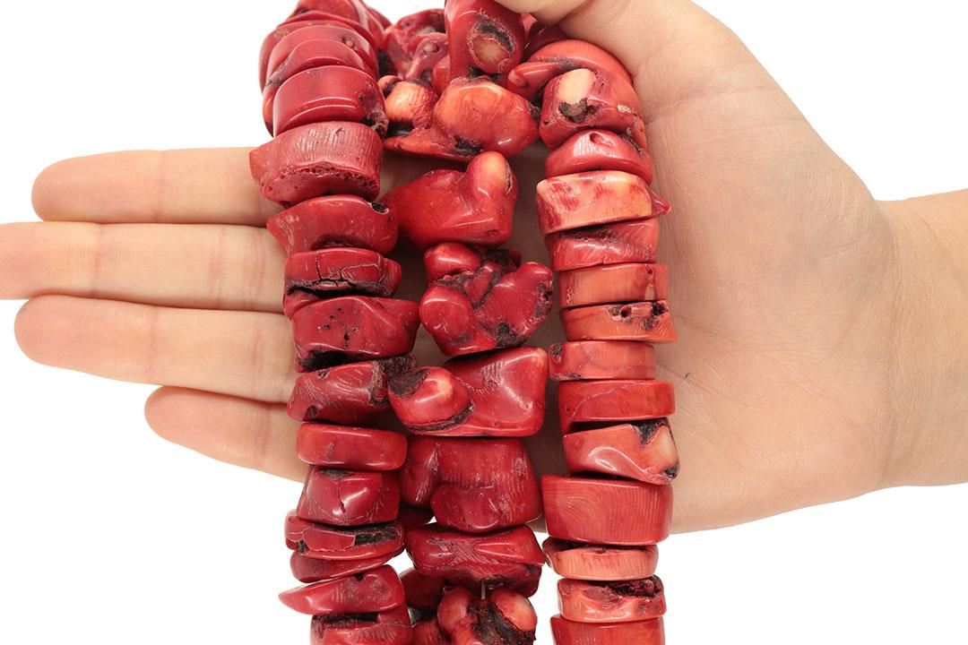 Coral Vermelho Rústico Toco Graúdo - CO002  - ArtStones