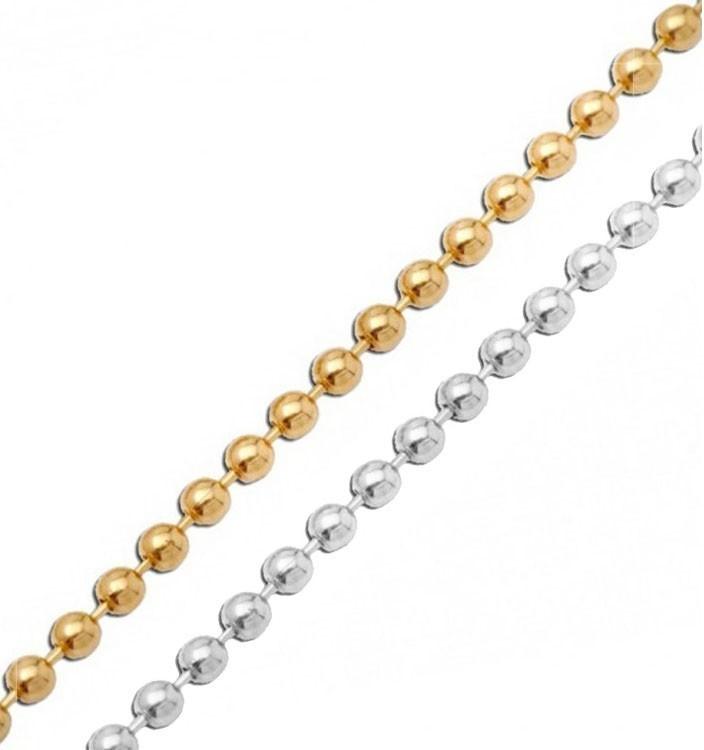 Corrente Bolinha Diamantada 1.5mm Folheada - Metro - FO208  - ArtStones