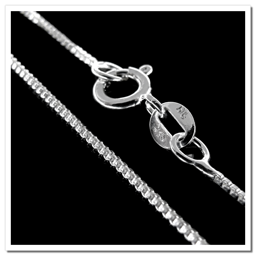 Corrente em Prata 925 Veneziana Fina 60cm - PR060  - ArtStones