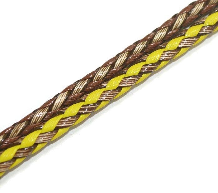 Couro Roliço Trancado 5.5mm Cores Variadas - Pacote - MM050  - ArtStones