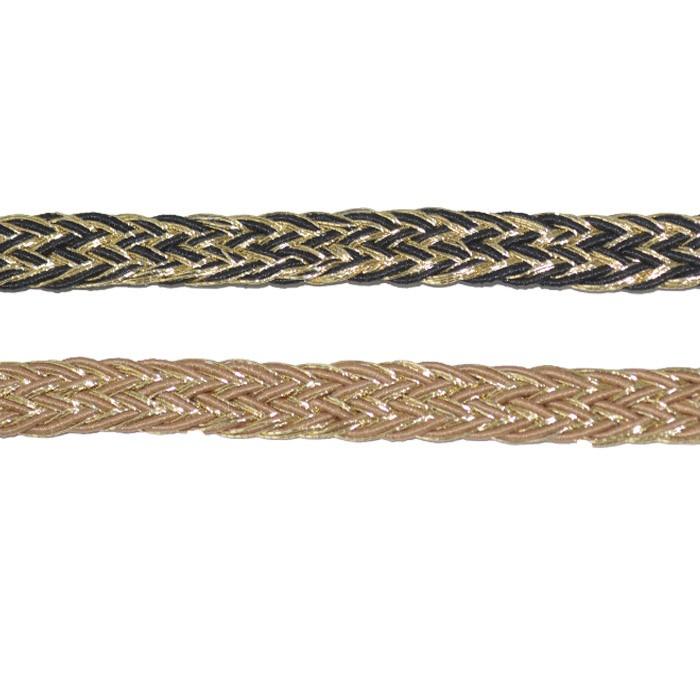 Tira de Poliester trançada Multicor  - PACOTE - MM066  - ArtStones