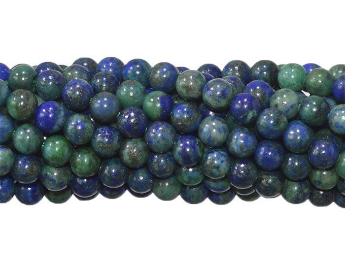 Pedra Natural imitando Crisocola Fio com Esferas de 6mm - F168  - ArtStones