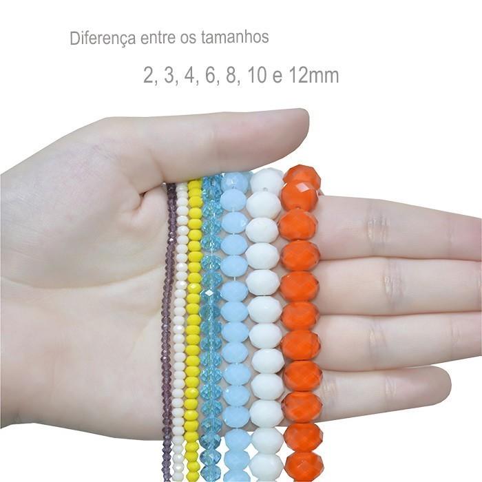 Cristal de Vidro Menta 12mm Facetado - 20 Peças - CV00  - ArtStones