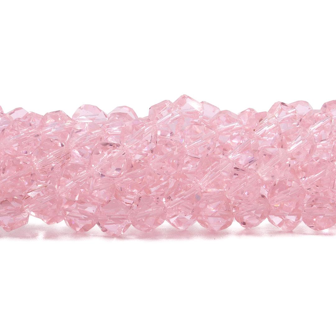 Cristal de Vidro Rosa Balão Disforme 8mm - 43 Cristais - CV018  - ArtStones