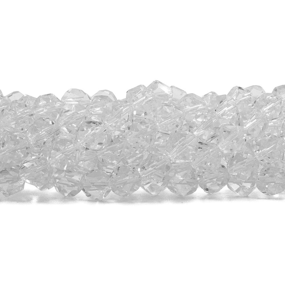 Cristal de Vidro Translúcido Balão Disforme 7mm - 40 cristais - CV096  - ArtStones