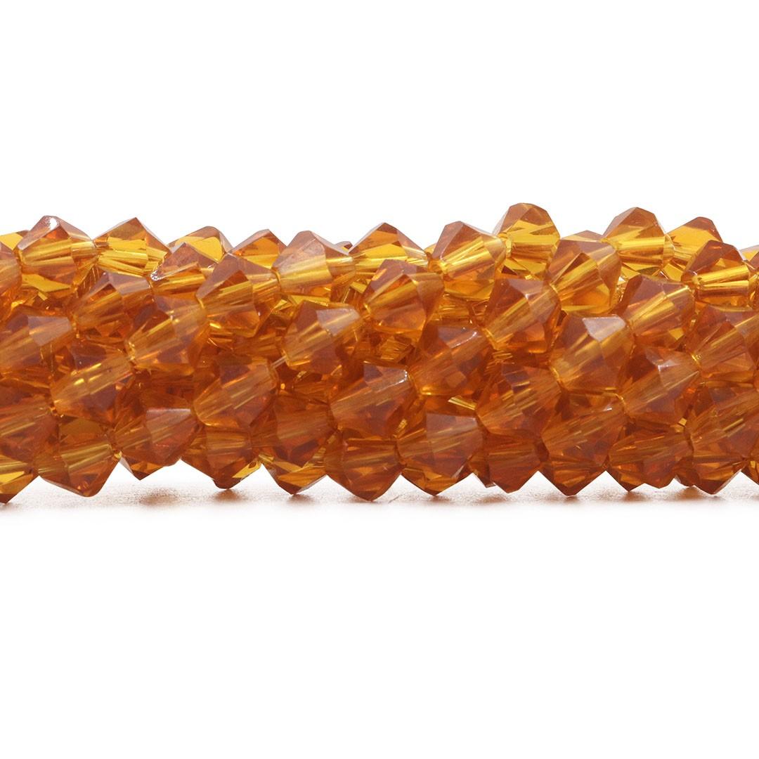 Cristal de Vidro Citrino Balão 8mm - CV147  - ArtStones