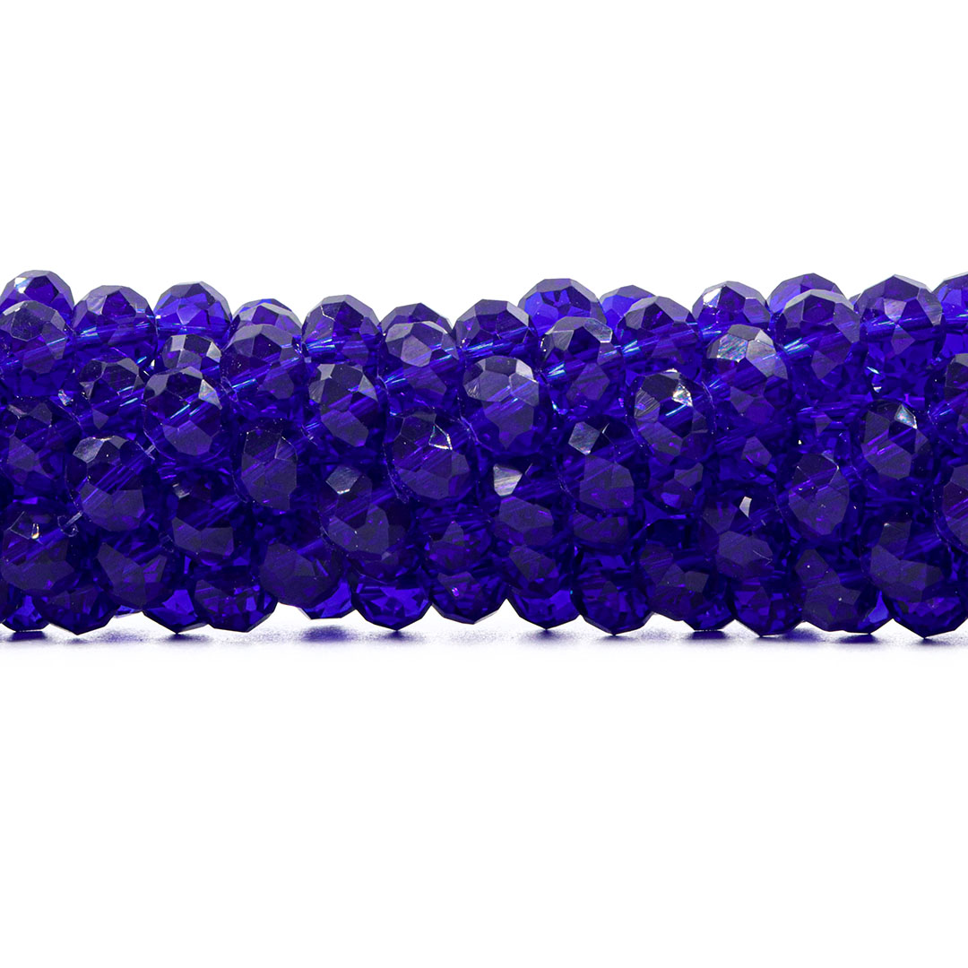 Cristal de Vidro Azul Bic 10mm - 67 cristais - CV379  - ArtStones