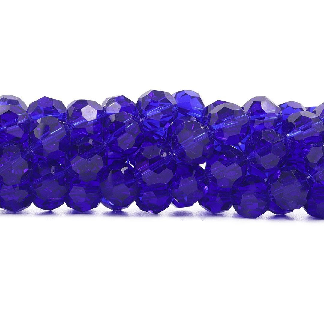 Cristal de Vidro Azul Bic Facetado Bola Extra 14mm - 23 esferas - CV492  - ArtStones