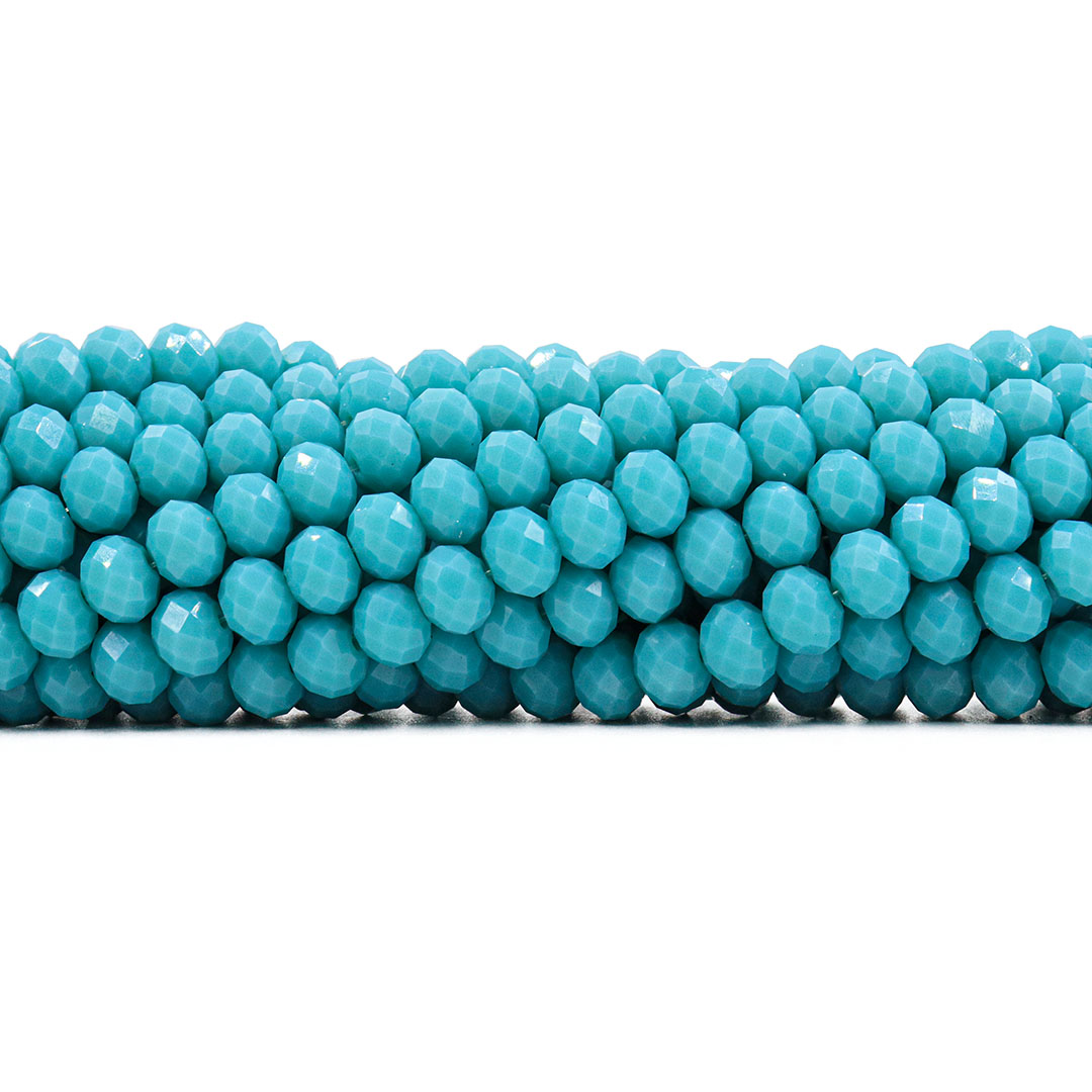 Cristal de Vidro Azul Turquesa 8mm - 67 Cristais - CV375  - ArtStones