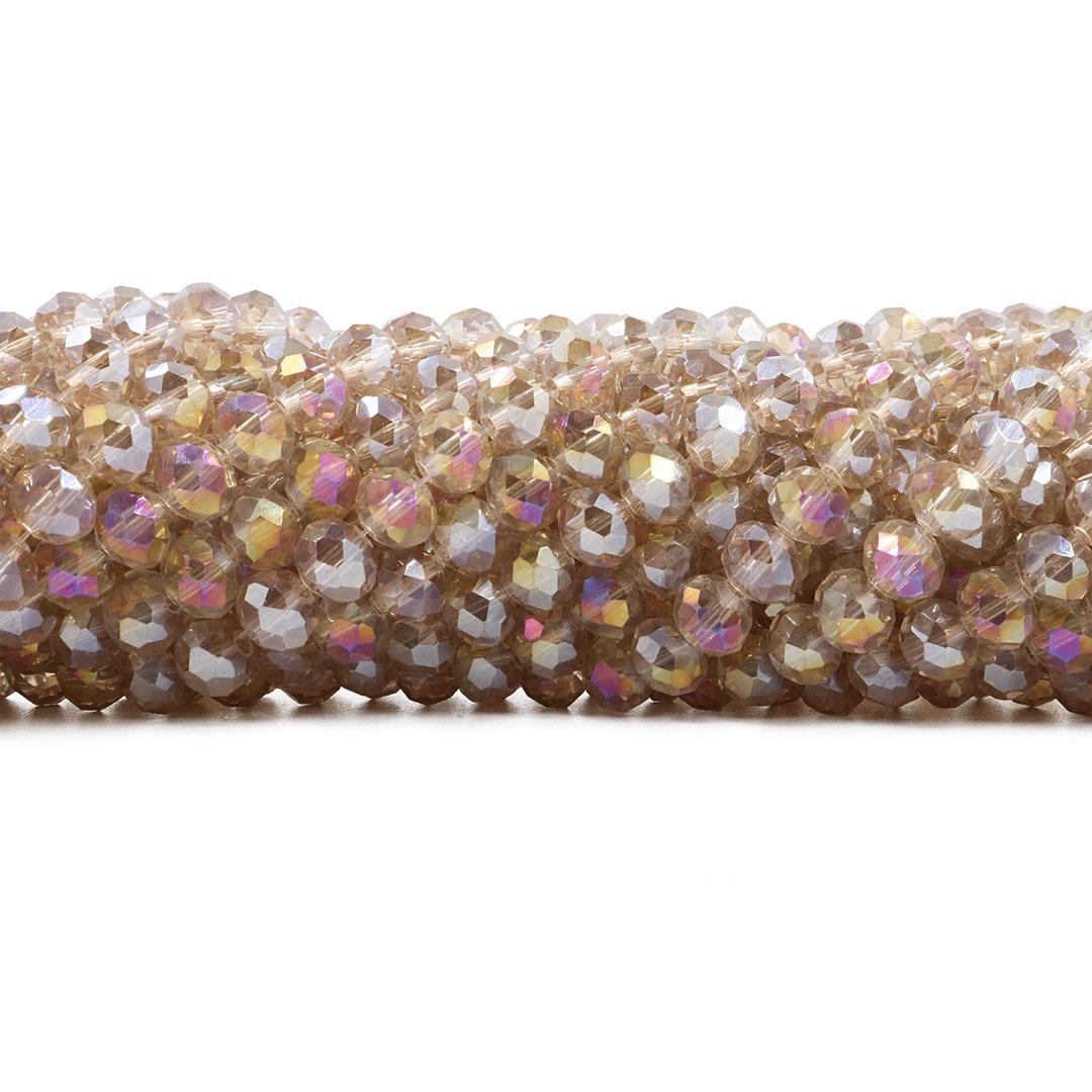 Cristal de Vidro Champanhe Boreal 6mm - 90 cristais - CV059  - ArtStones