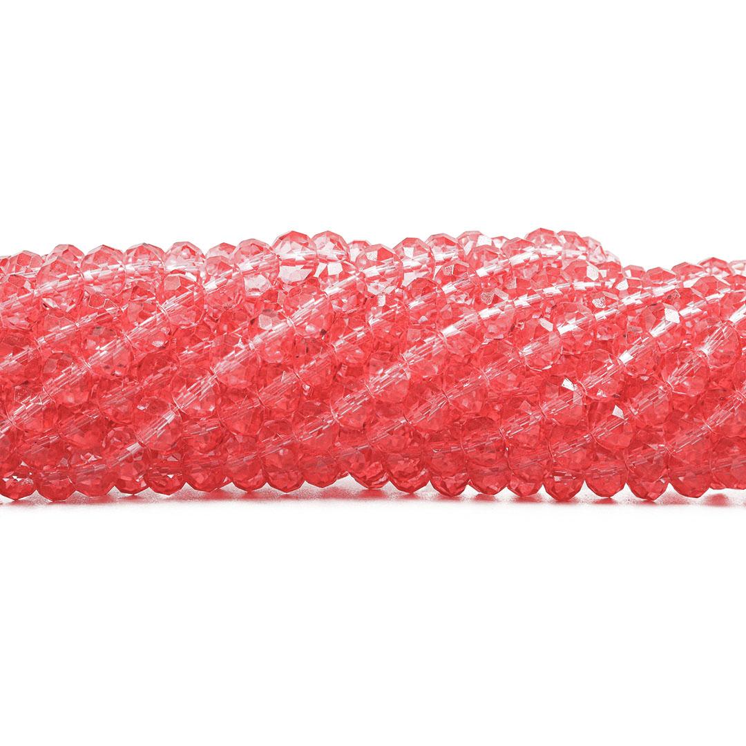 Cristal de Vidro Cherry Translúcido 8mm  - 69 Peças -  CV297  - ArtStones