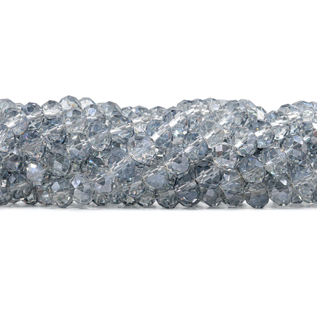 Cristal de Vidro Grey 10mm - 68  cristais - CV198  - ArtStones
