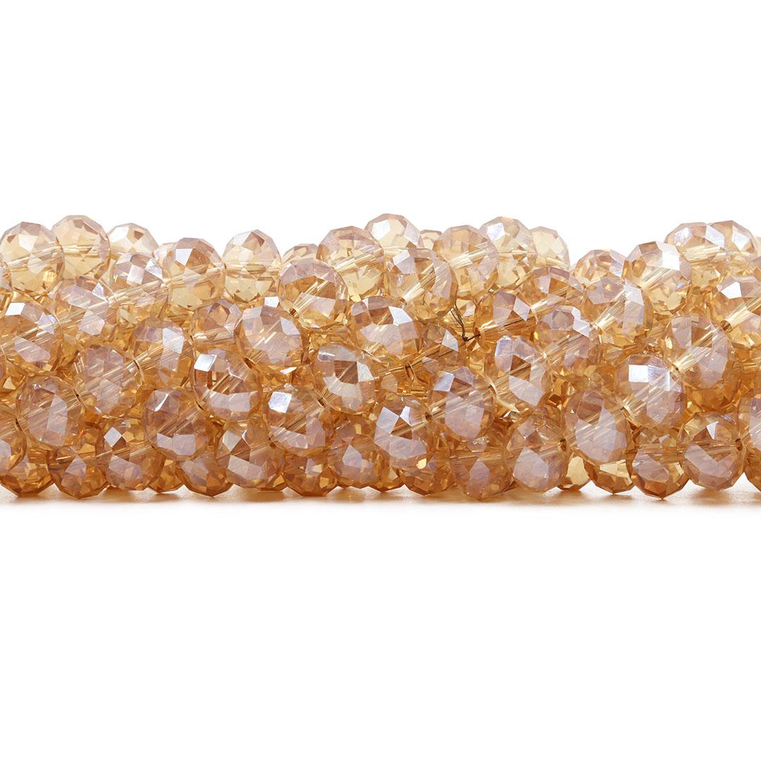 Cristal de Vidro Citrino Boreal 10mm - 68 cristais - CV290  - ArtStones