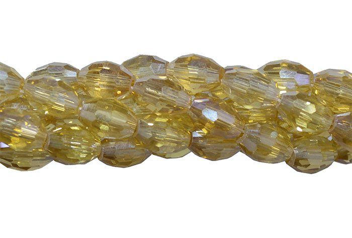 Cristal de Vidro Citrino Boreal 8x6mm Barril - 70 cristais - FCR_722  - ArtStones