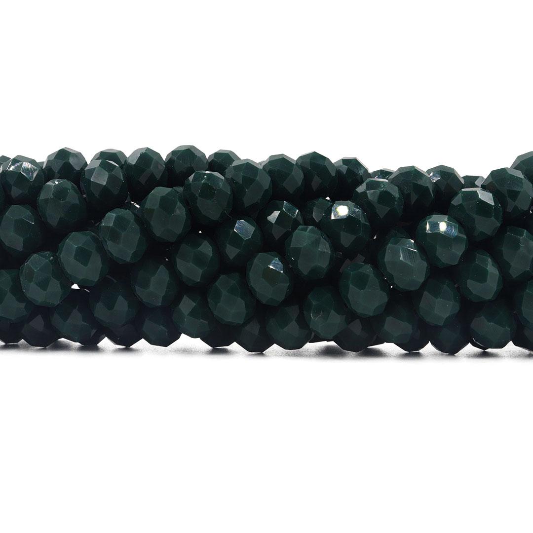 Cristal de Vidro Esmeralda Dark 10mm - 65 cristais - CV162  - ArtStones