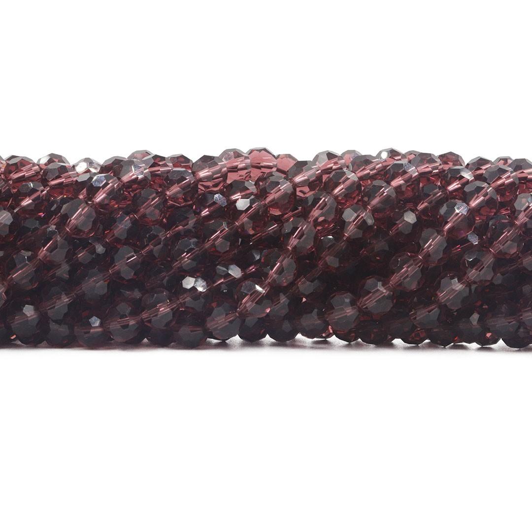 Cristal de Vidro Granada Facetado Bola Extra 6mm - 98 esferas - CV510  - ArtStones