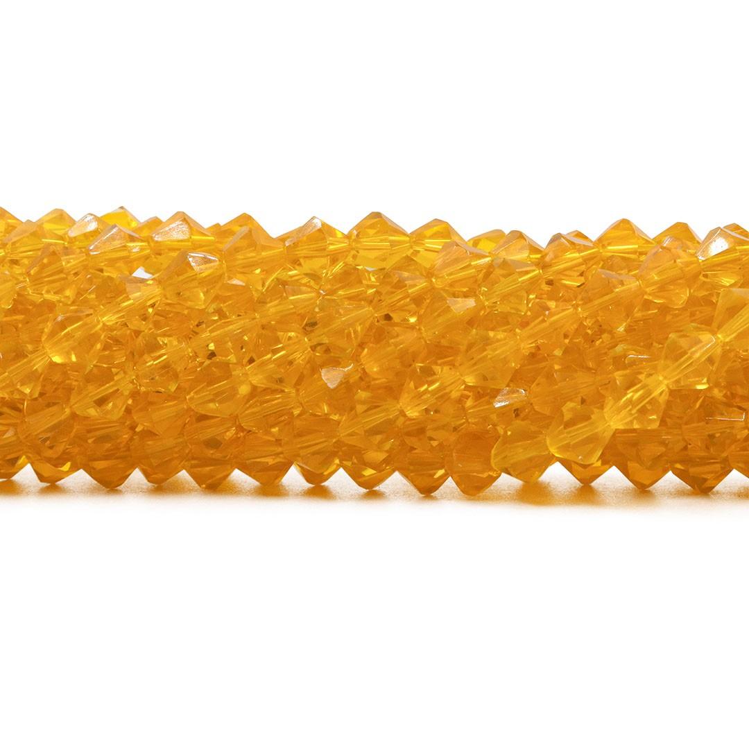 Cristal de Vidro Âmbar Translúcido Balão 6mm - CV524  - ArtStones