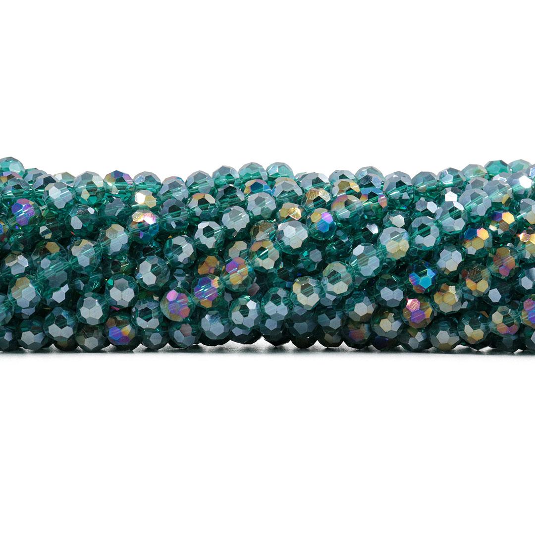 Cristal de Vidro Oceânico Boreal Bola 6mm - 96 cristais - CV040  - ArtStones