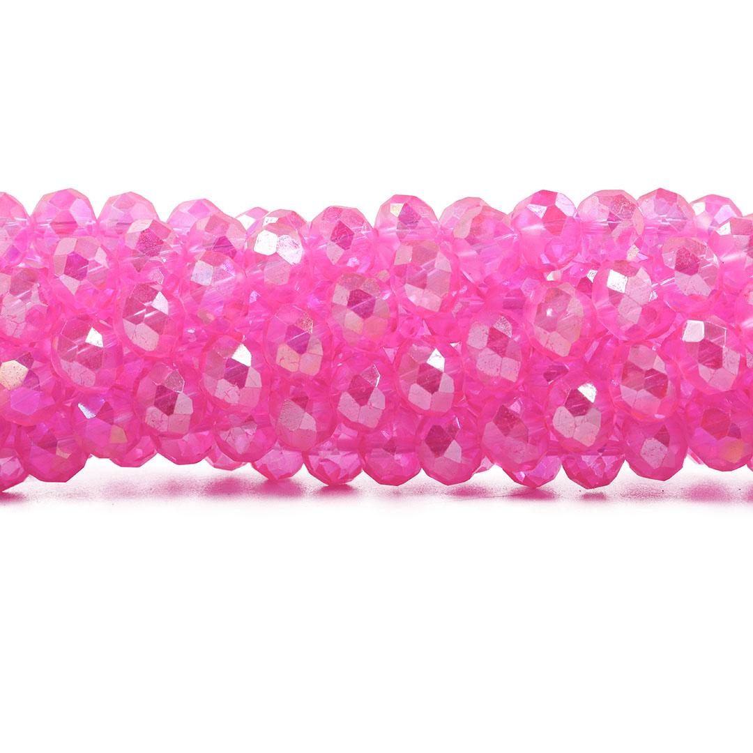Cristal de Vidro Pink Boreal Flat 10mm - 65 cristais - CV543  - ArtStones