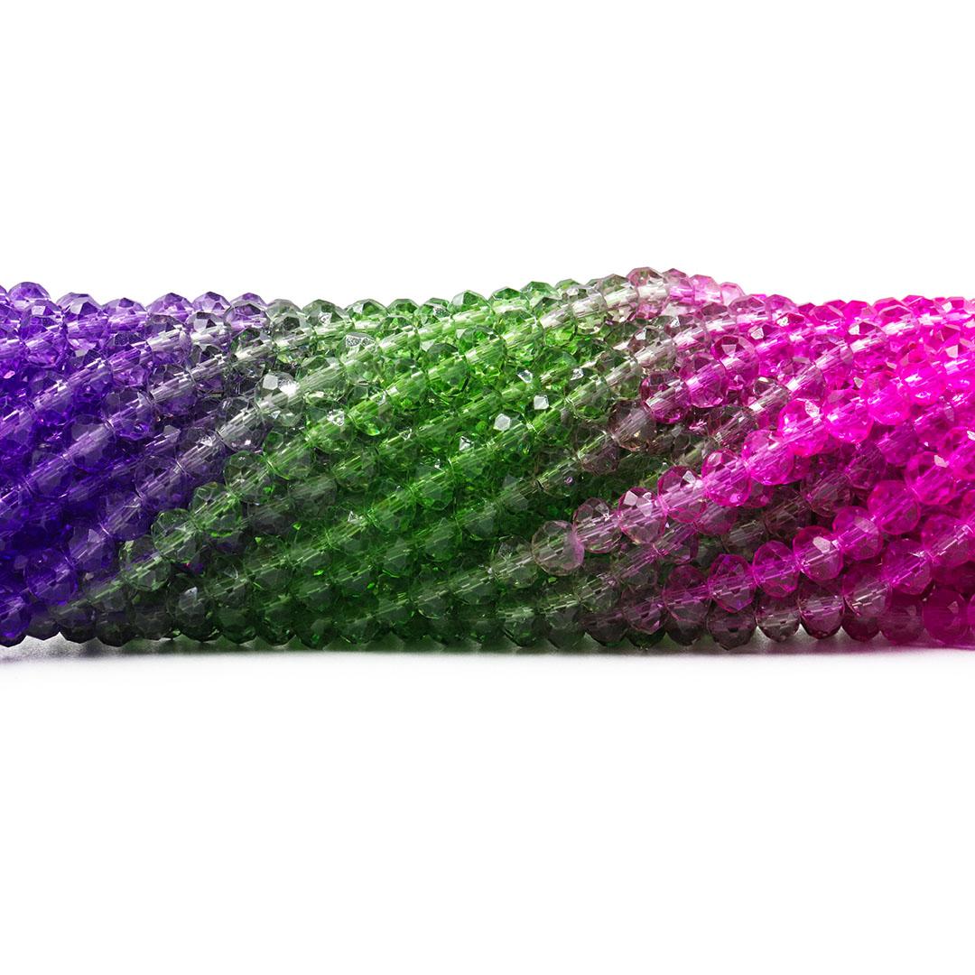 Cristal de Vidro Primavera Tie Dye 6mm - 95 cristais - CV429  - ArtStones