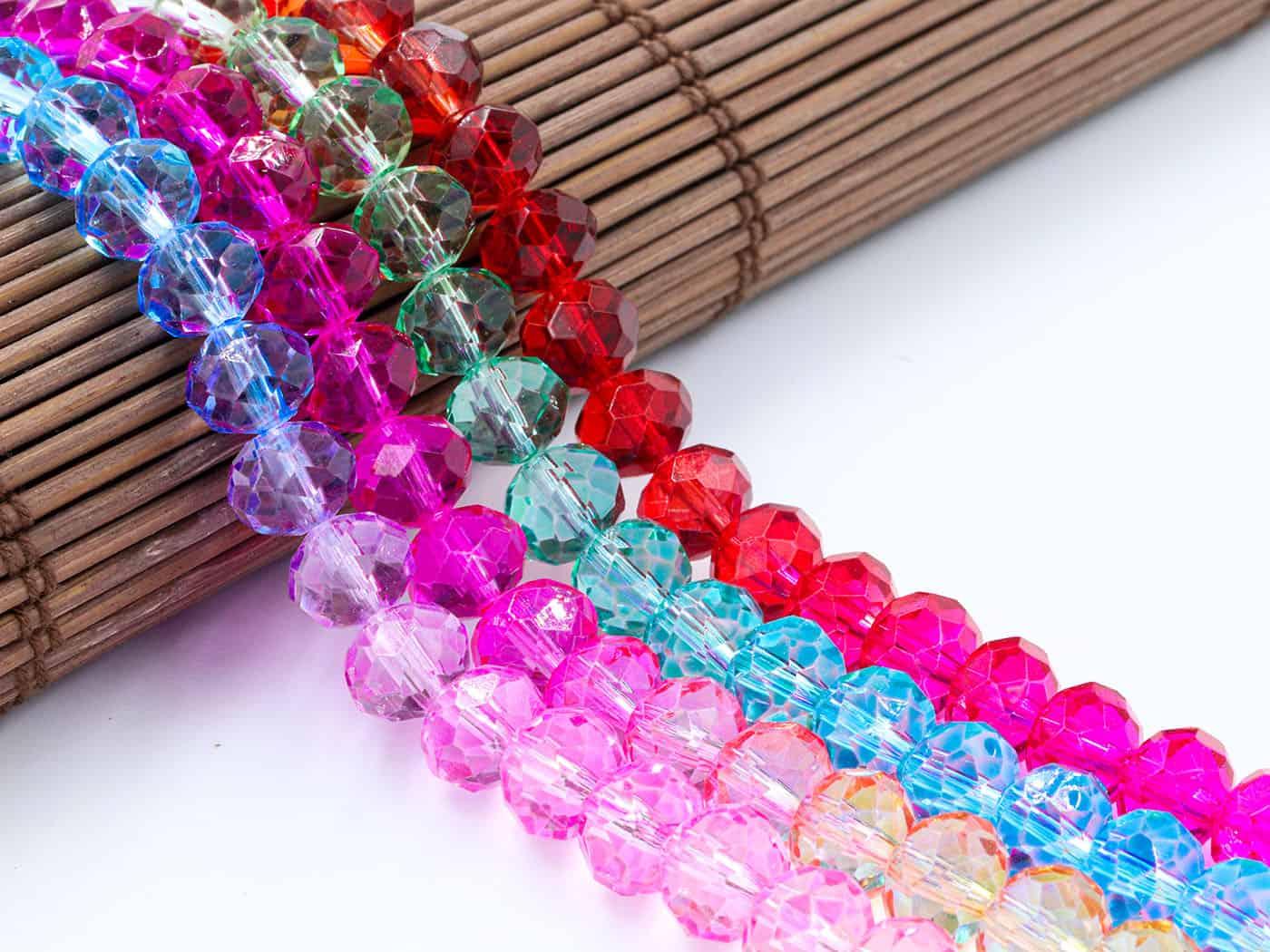 Cristal de Vidro Tie Dye Hawaí 6mm - 90 cristais - CV518  - ArtStones