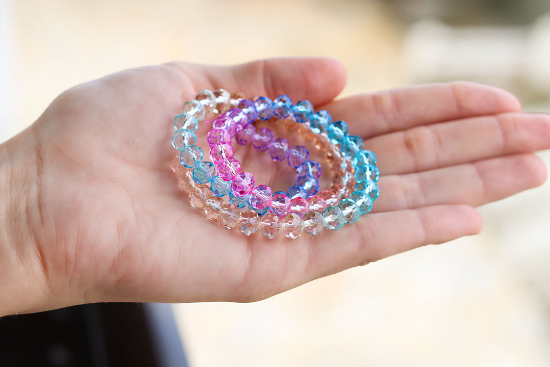 Cristal de Vidro Tie Dye Soft 6mm - 90 cristais - CV513  - ArtStones