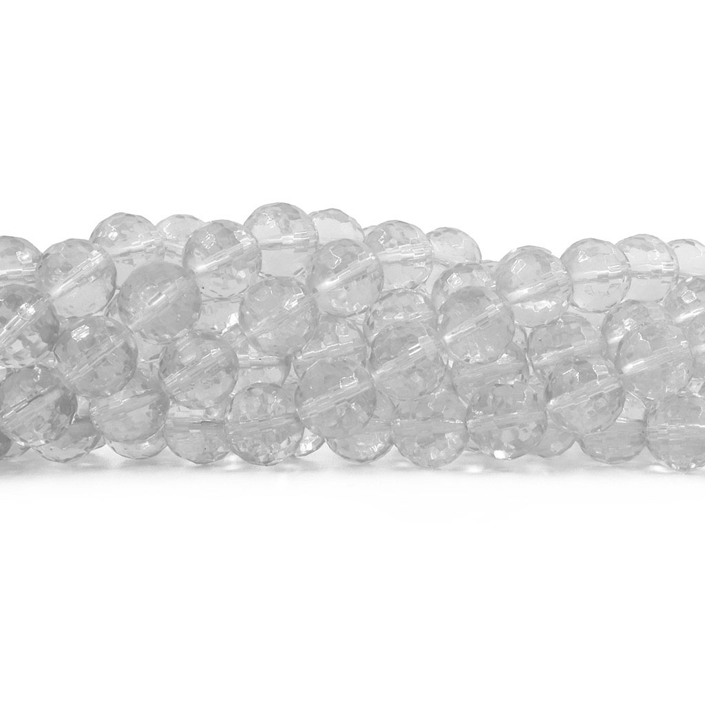 Cristal de Vidro Multifacetado Translúcido Bola 16mm  Extra Brilho - 21 cristais - CV030  - ArtStones