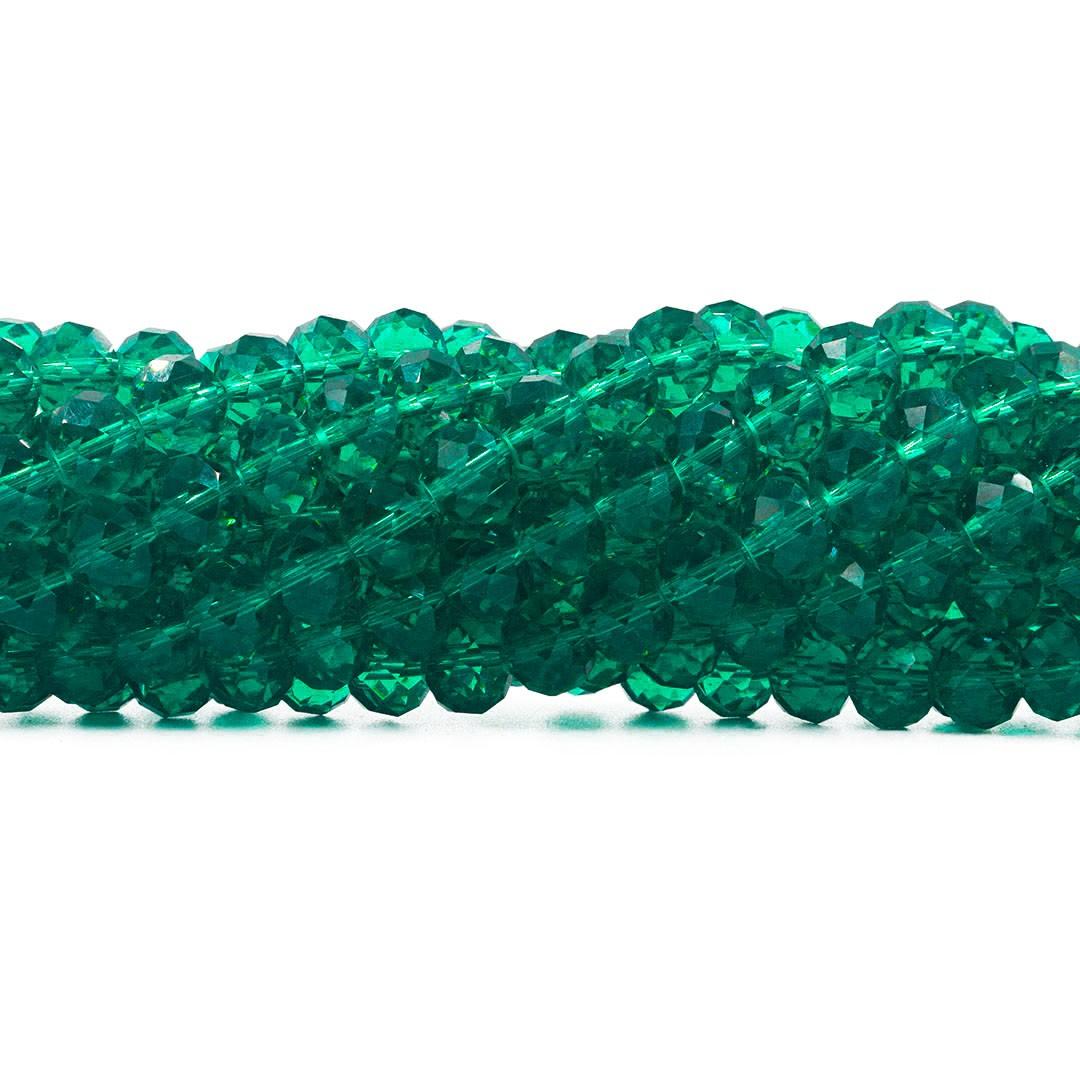 Cristal de Vidro Verde Oceânico 8mm - 67 cristais - CV145  - ArtStones