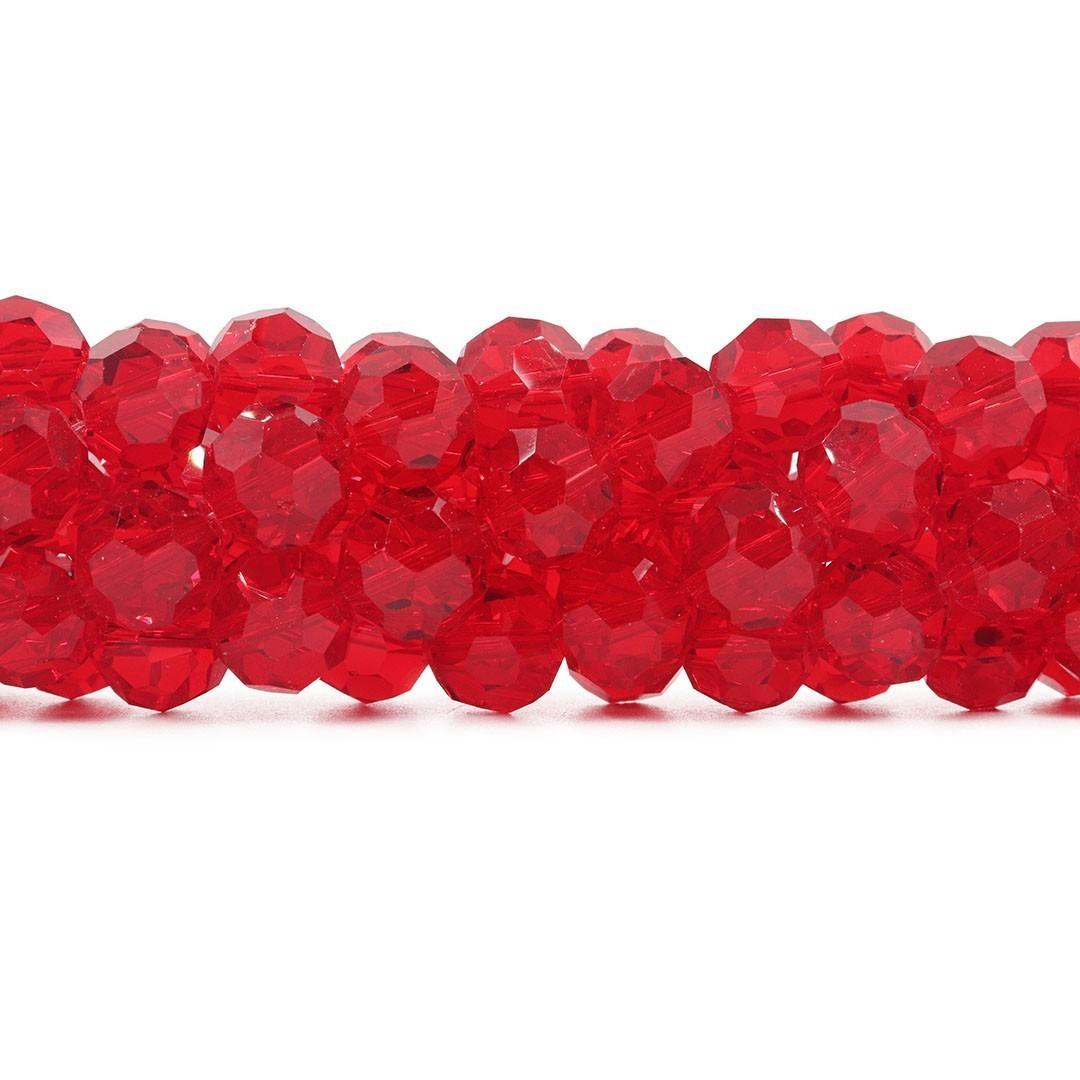 Cristal de Vidro Vermelho Facetado Bola Extra 14mm - 23 esferas - CV494  - ArtStones