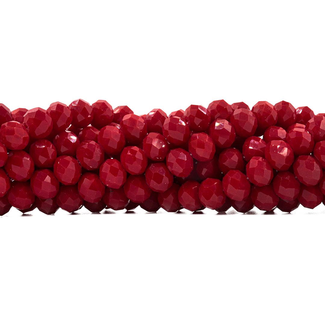 Cristal de Vidro Vermelho Rubi 10mm - 67 Cristais - CV388  - ArtStones