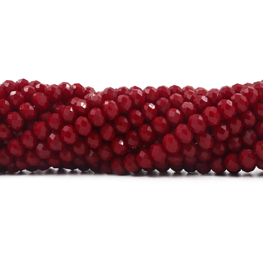 Cristal de Vidro Vermelho Rubi Flat 12mm - 68  cristais - CV157  - ArtStones