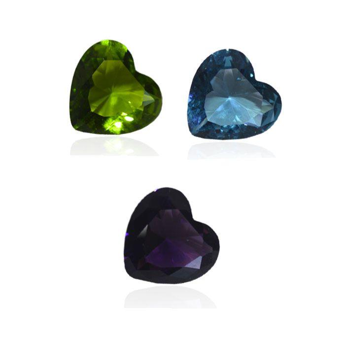 Cristal Lapidado Coração 15mm - 02 peças - CLU_141  - ArtStones