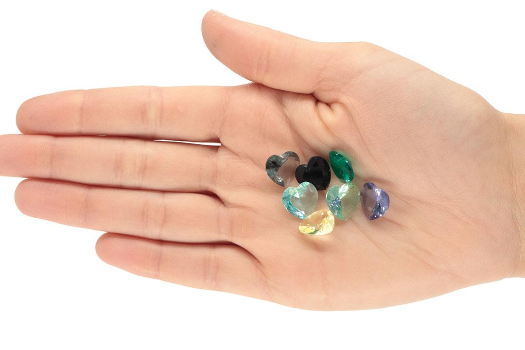 Cristal Lapidado Coração 12mm - 03 Peças - CL057  - ArtStones