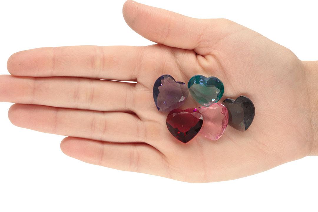 Cristal Lapidado Coração 20mm - 02 peças - CL045  - ArtStones