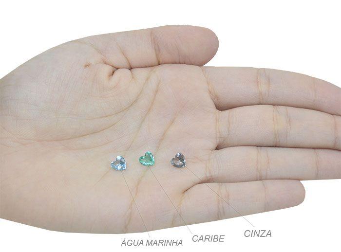 Cristal Lapidado Coração 6mm - 06 peças - CLU_145  - ArtStones
