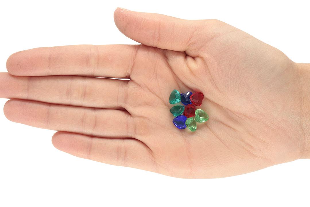 Cristal Lapidado Coração 8mm - 04 peças - CL048  - ArtStones