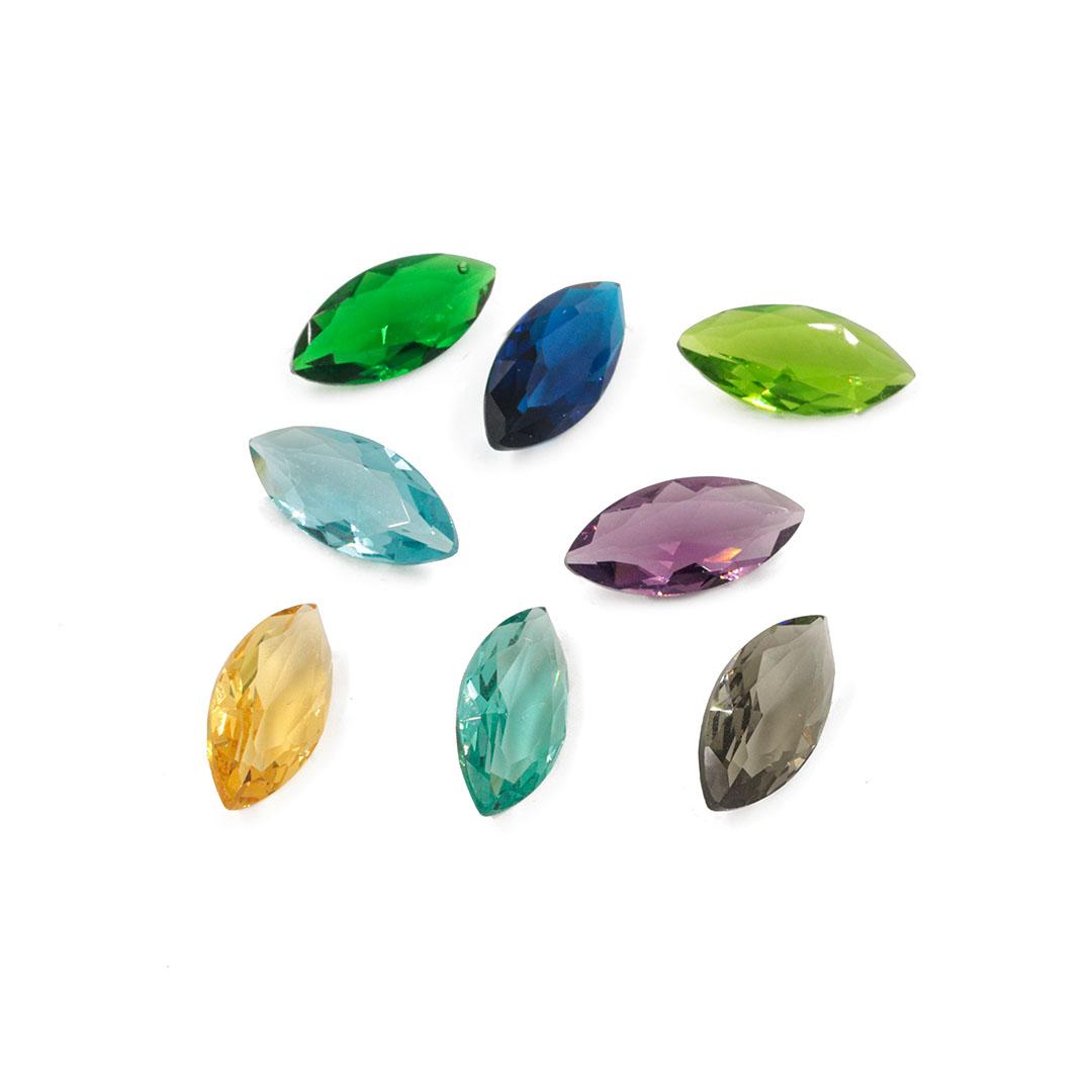 Cristal Lapidado Navete 7x15mm - 03 peças - CL013  - ArtStones