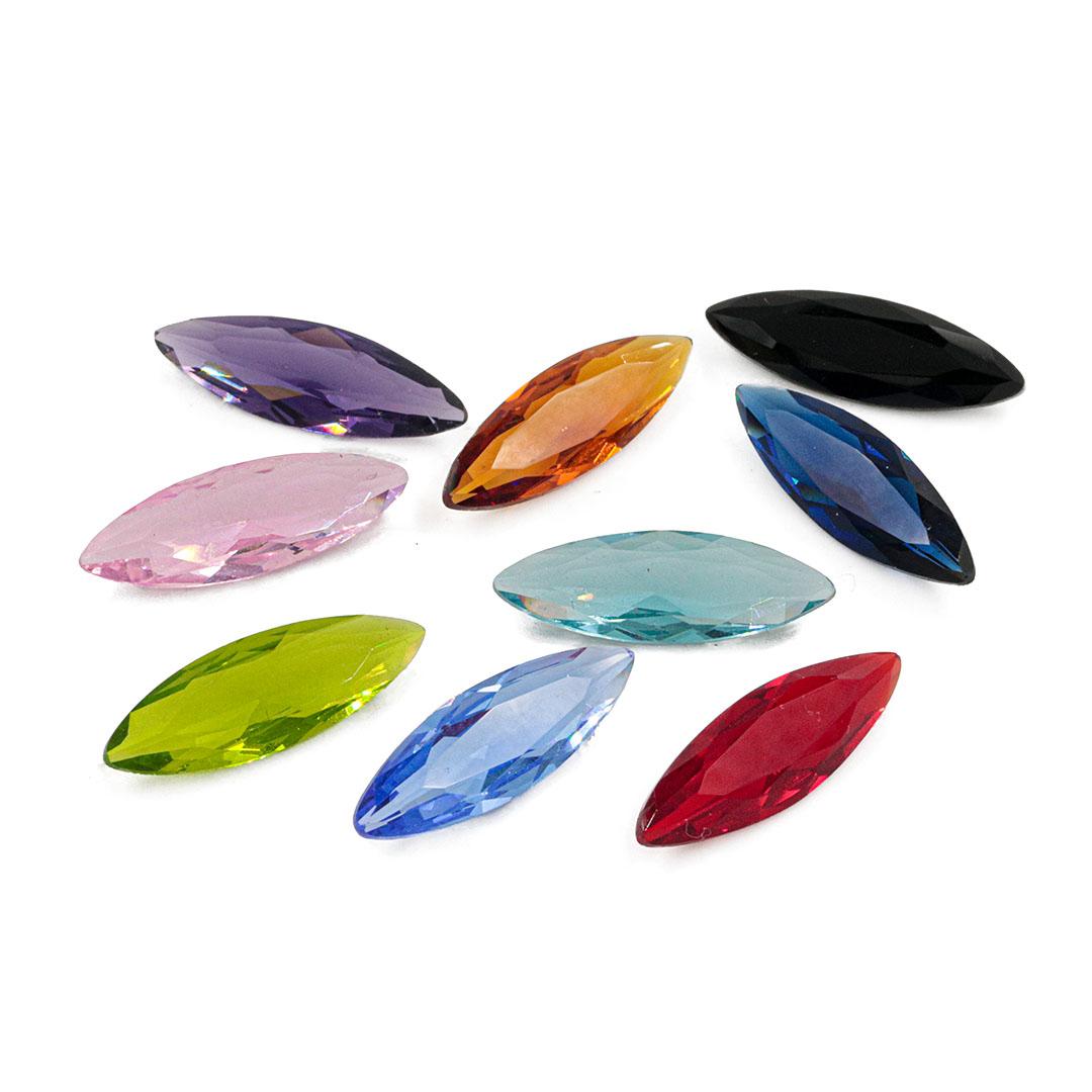 Cristal Lapidado Navete 7x21mm - 02 peças - CL014  - ArtStones