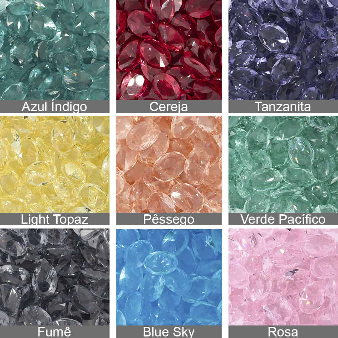 Cristal Lapidado Oval 10x14mm - 03 peças - CL024  - ArtStones