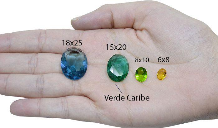 Cristal Lapidado Oval 10x14mm - 03 peças - CLU_109  - ArtStones