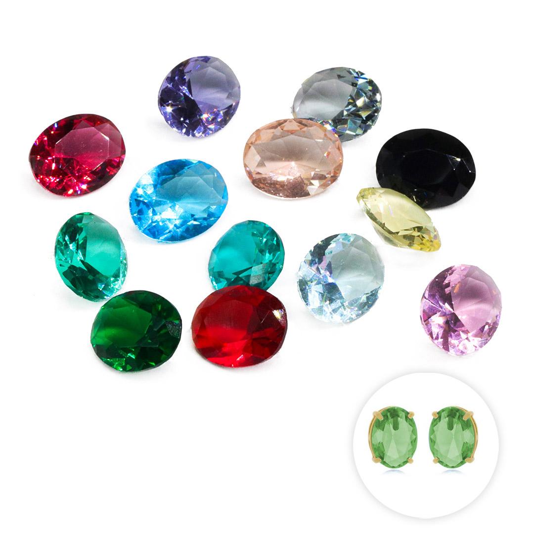 Cristal Lapidado Oval 8x10mm - 03 Peças - CL025  - ArtStones