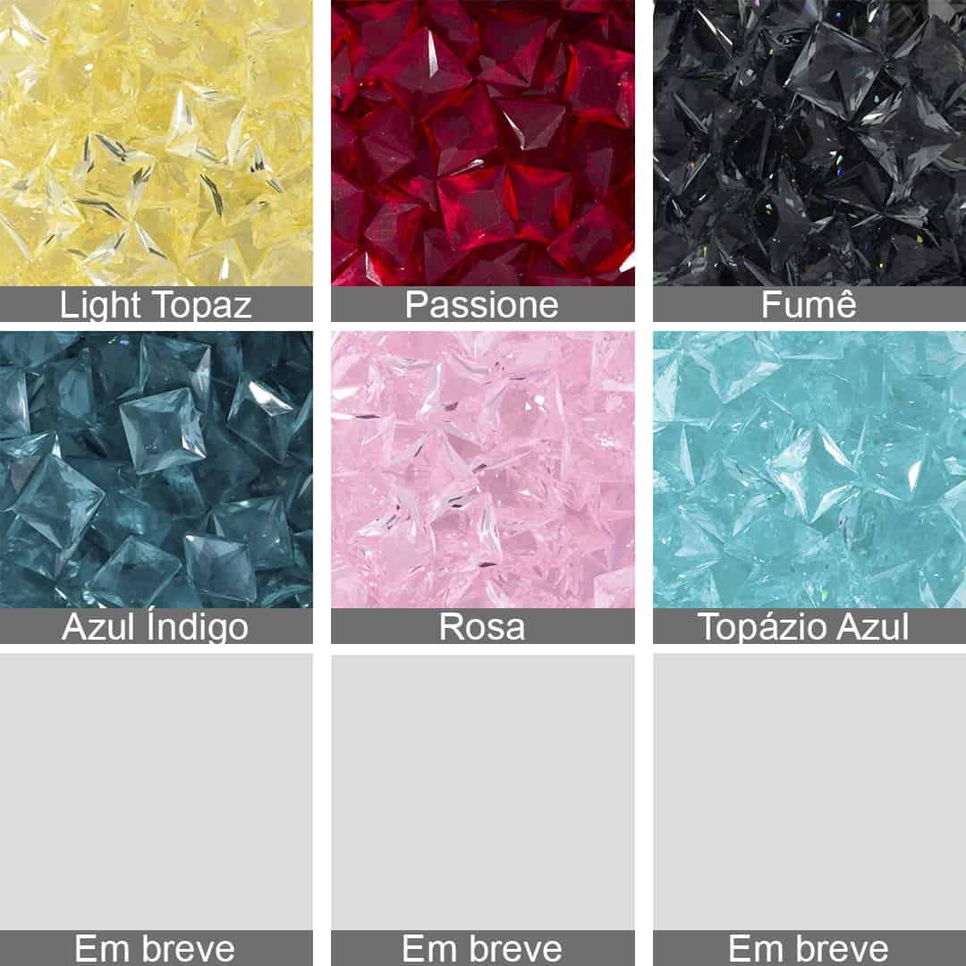 Cristal Lapidado Quadrado 10x10mm - 03 Peças - CL038  - ArtStones