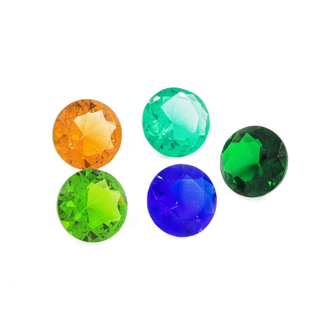 Cristal Lapidado Redondo 12mm - 03 Peças - CL016  - ArtStones
