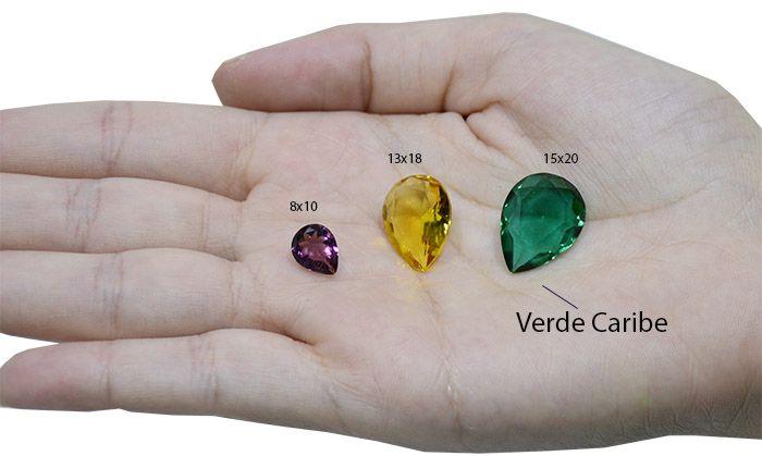Cristal Lapidado Redondo 12mm - 03 peças - CLU_114  - ArtStones