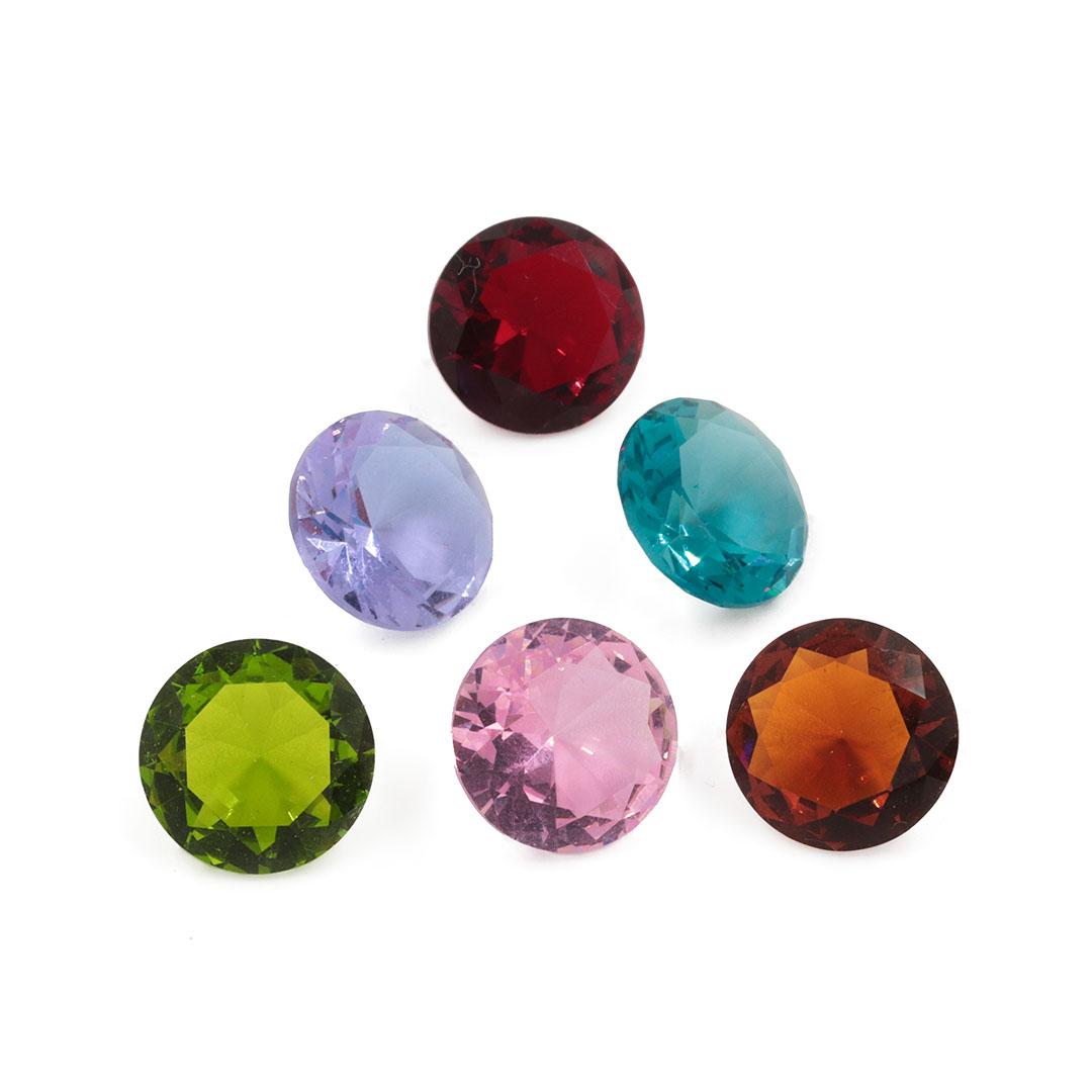 Cristal Lapidado Redondo 14mm - 02 Peças - CL017  - ArtStones