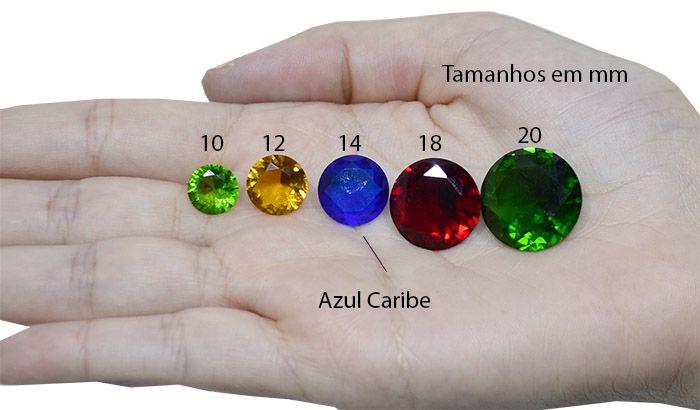 Cristal Lapidado Redondo 14mm - 02 peças - CLU_115  - ArtStones