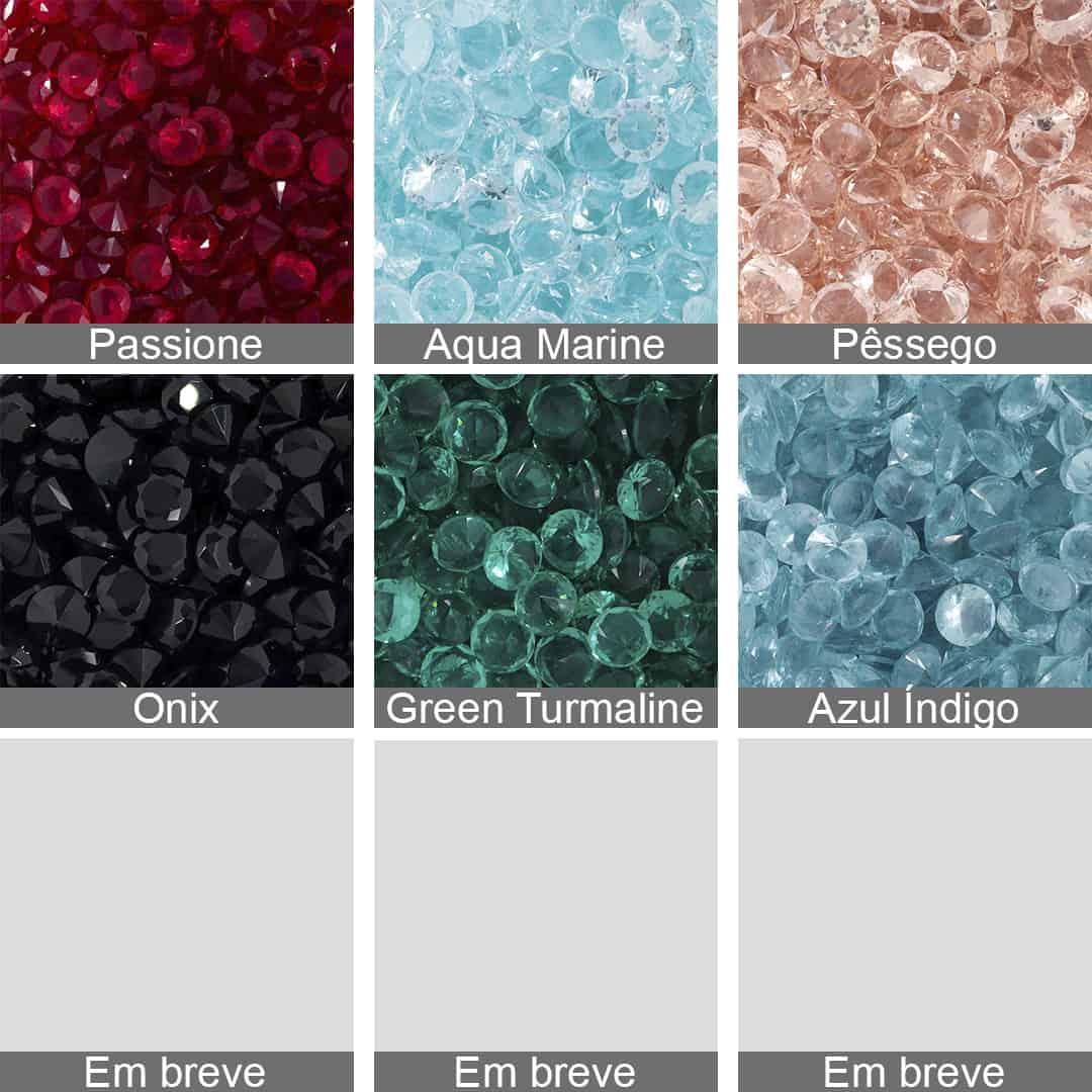 Cristal Lapidado Redondo 6mm - 06 peças - CL021  - ArtStones